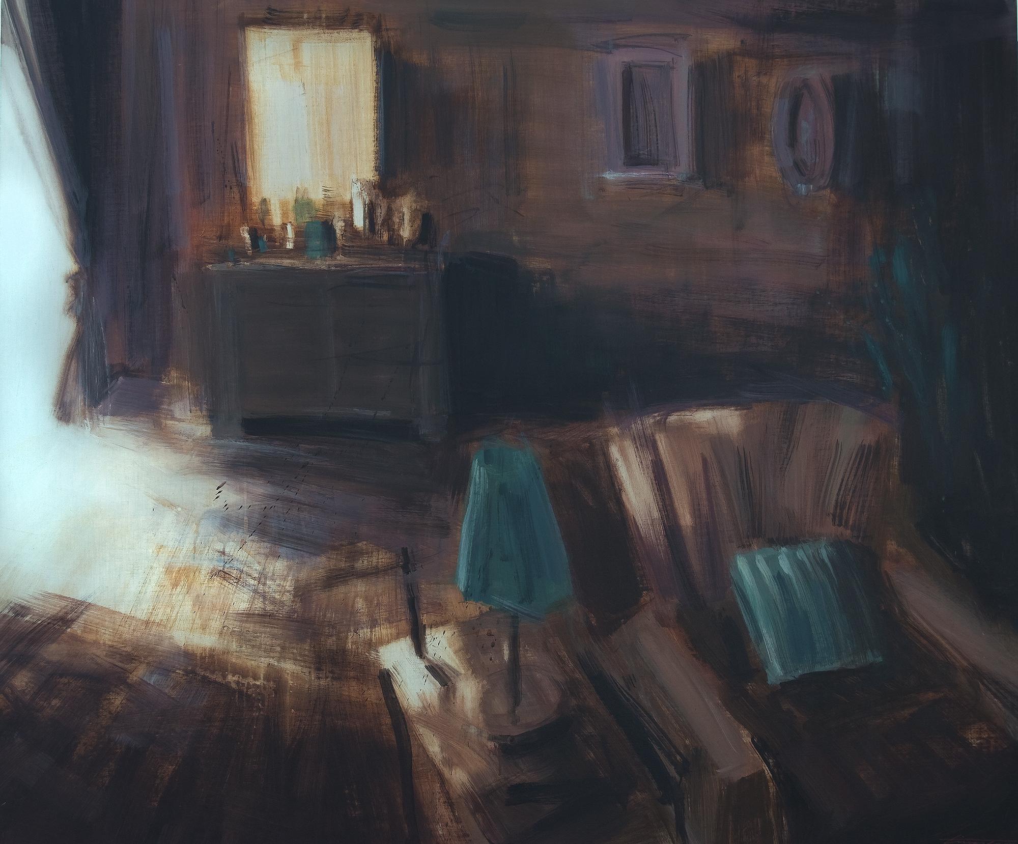 """Tina Sgrò, """"Specchio Antico"""" (Dettaglio), 2015, Acrilico Su Tela, Courtesy L'Artista"""
