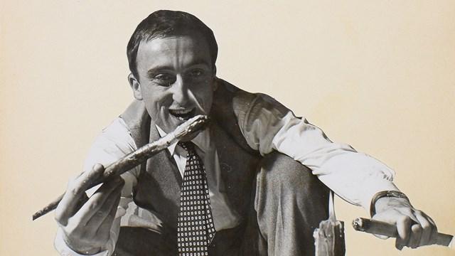 Ritratto di Enrico Baj, anni Cinquanta del Novecento, Mart, Archivio del '900, Fondo Baj