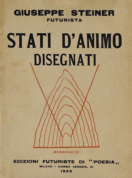 """Giuseppe Steiner, """"Stati d'animo disegnati"""", Edizioni futuriste di """"Poesia"""", Milano 1923"""