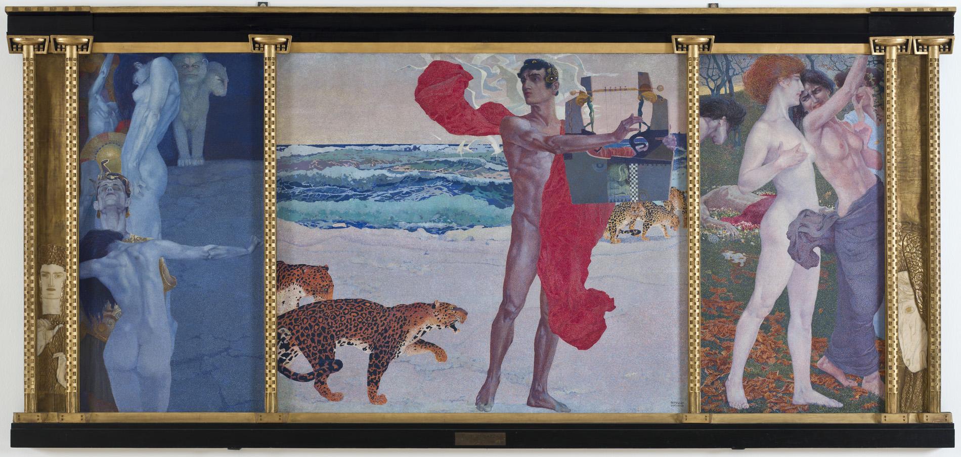 "Luigi Bonazza, ""La leggenda di Orfeo/ Rinascita d'Euridice/ Morte d'Orfeo"", 1905"