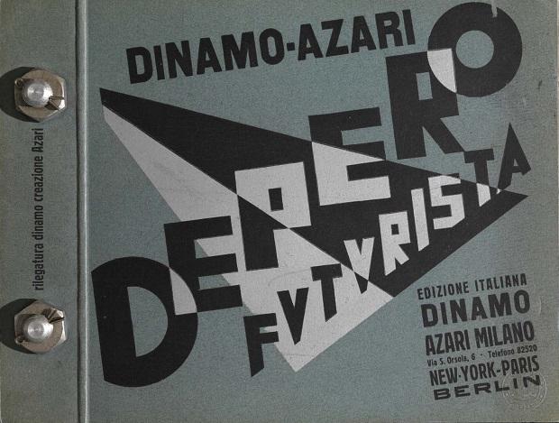 """Fortunato Depero, """"Depero Futurista. Dinamo Azari (Libro imbullonato)"""", 1927"""