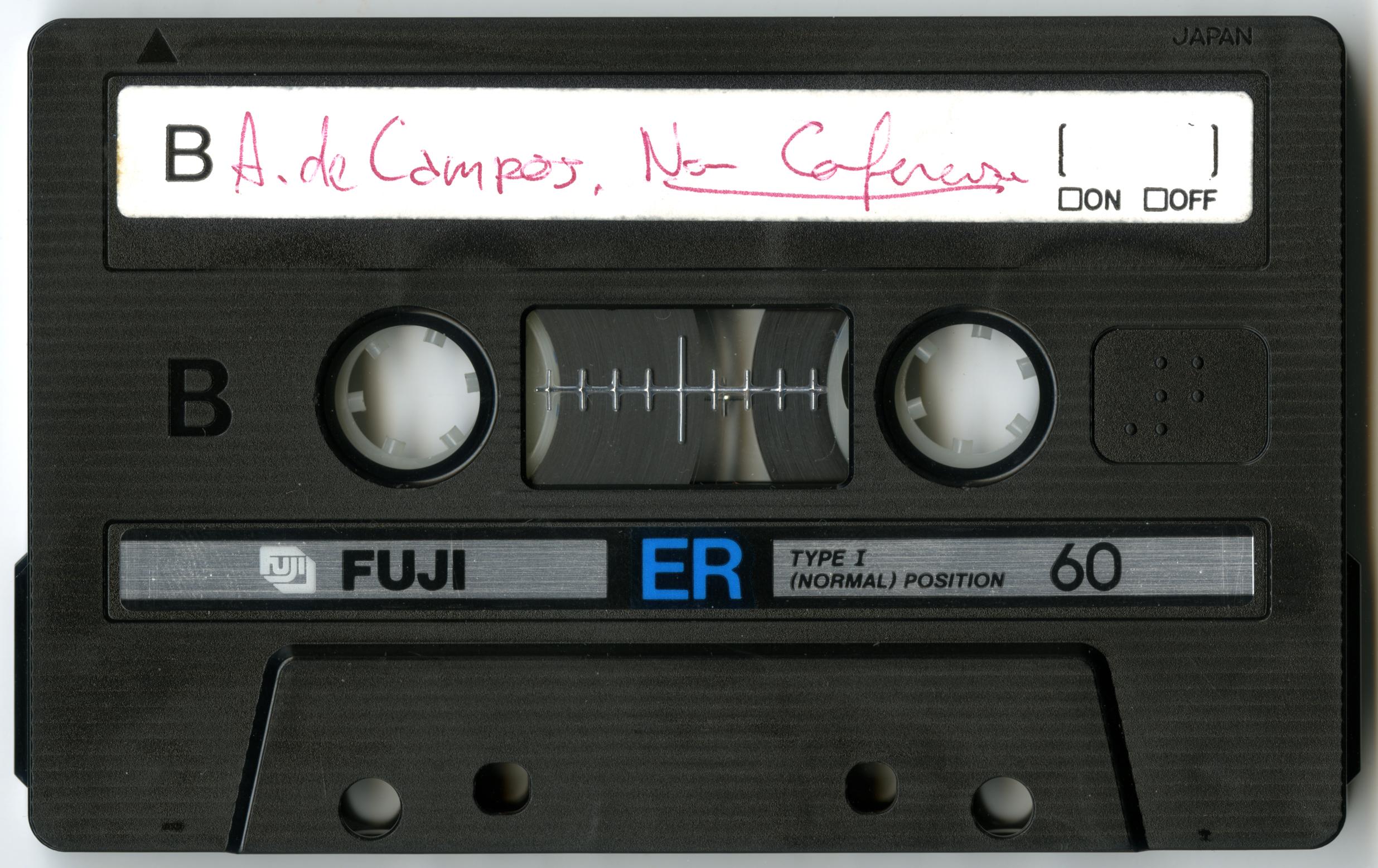 Audiocassette nell'Archivio di Nuova Scrittura