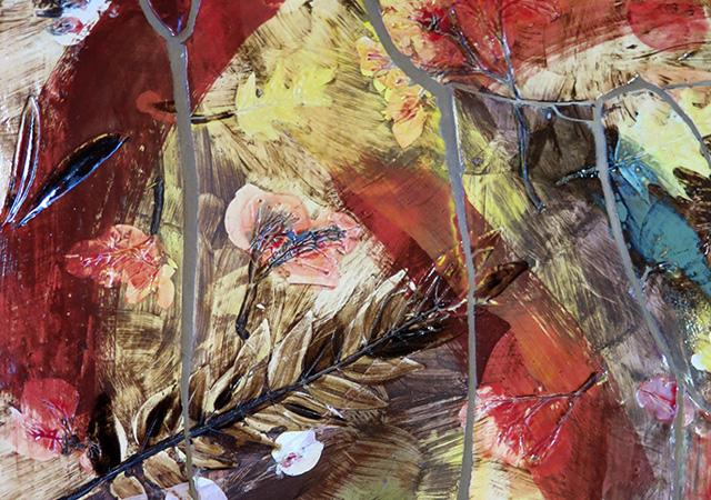 """Sam Falls, """"Untitled (Walking in Tropico, CA)"""" (dettaglio), 2017, ceramica, Courtesy Galleria Franco Noero, Torino"""