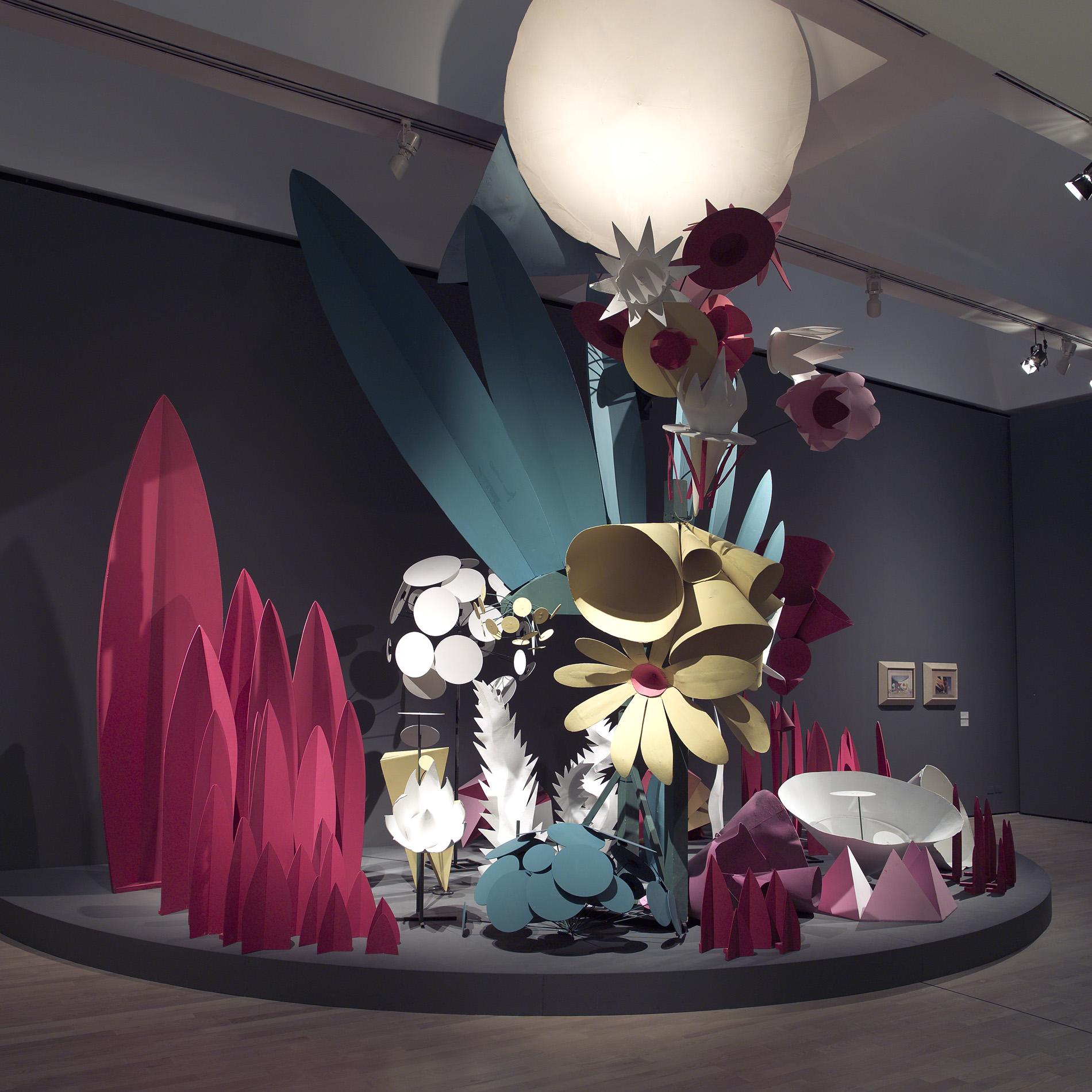 """Fortunato Depero, """"Flora magica, scenografia de Le Chant du Rossignol"""", 1917 (ricostruzione del 1981"""