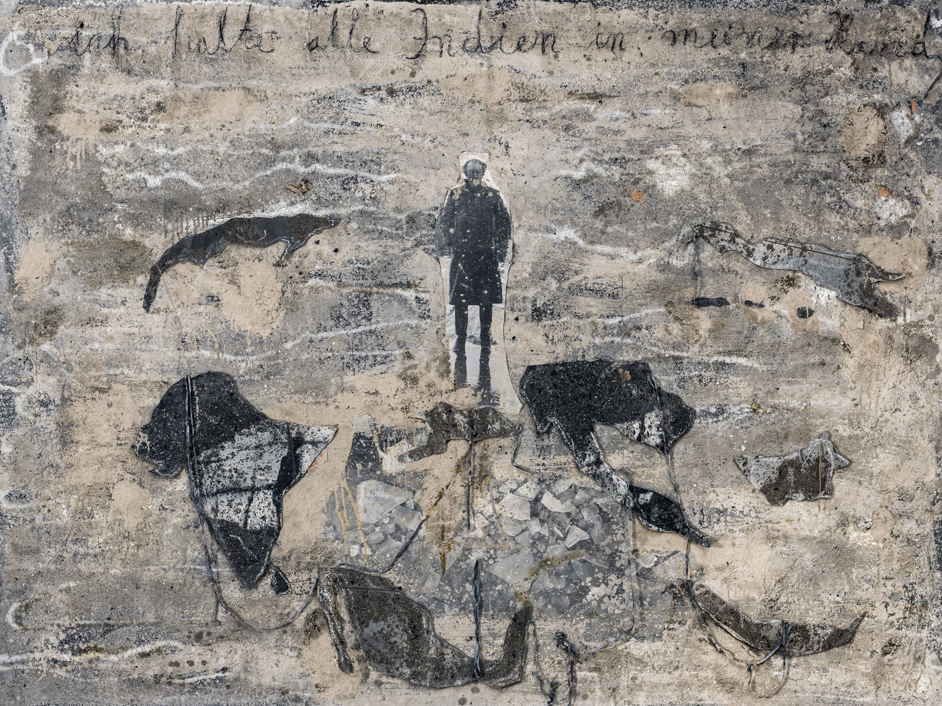 """Anselm Kiefer, """"Ich halte alle Indien in meiner Hand"""", 1995"""