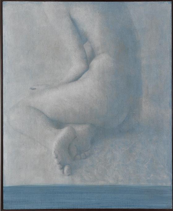 """""""Salomè"""" (dettaglio dell'opera), 2018, gelatina fotosensibile, grafite, olio su tela preparata, 117 x 97 cm, Courtesy l'artista"""