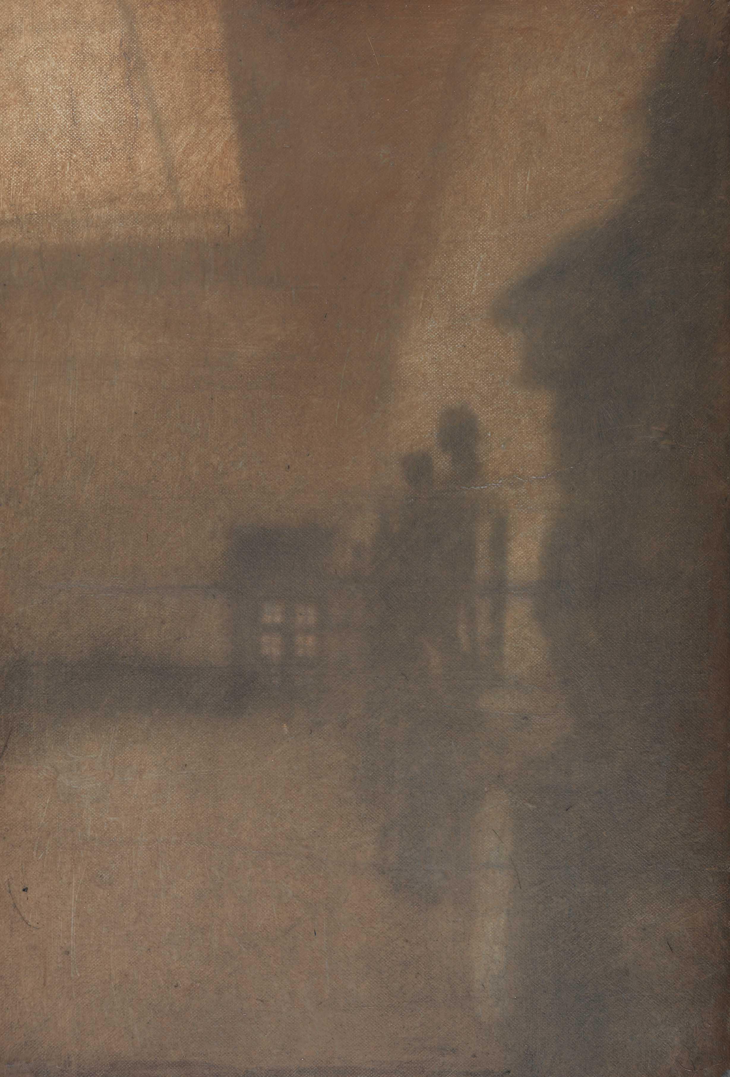 """""""Come se chiedessi all'oriente se avesse un mattino per me - mouseion"""" (dettaglio dell'opera), 2019, gelatina fotosensibile, graffite, olio su tela preparata, 40 x 27 cm, Courtesy l'artista"""
