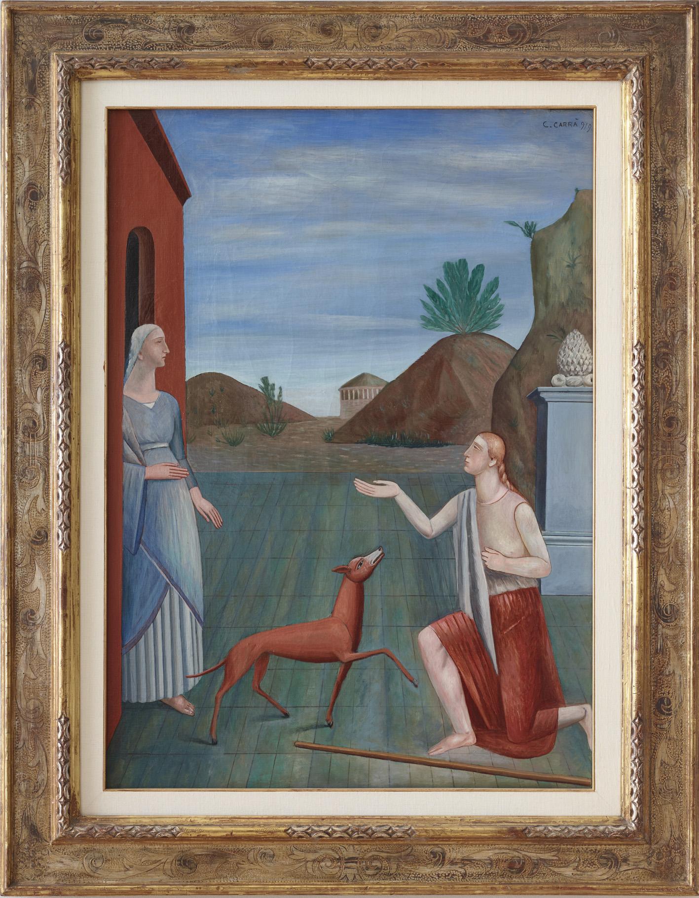 """Carlo Carrà, """"Le figlie di Loth"""", 1919"""