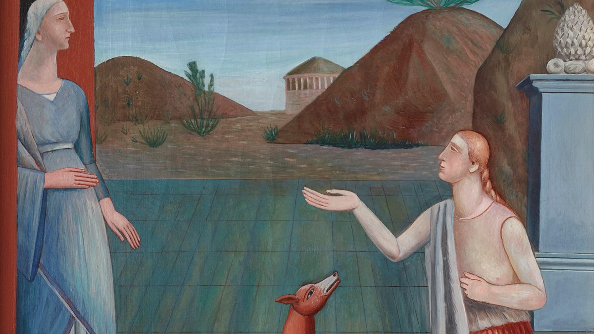 """Carlo Carrà, """"Le figlie di Loth"""" (dettaglio), 1919, olio su tela, Mart, Collezione VAF-Stiftung"""