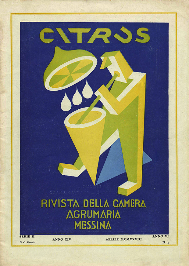"""Fortunato Depero, """"Citrus: rivista mensile della Camera Agrumaria"""", Messina 1928"""