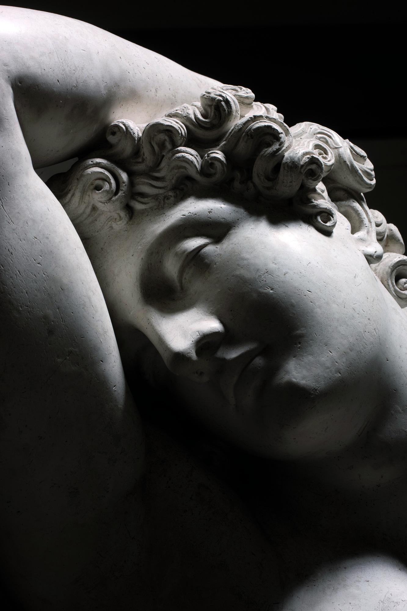 """Antonio Canova, """"Endimione dormiente"""" (dettaglio), 1819, gesso, Possagno, Museo Gypsotheca Antonio Canova"""