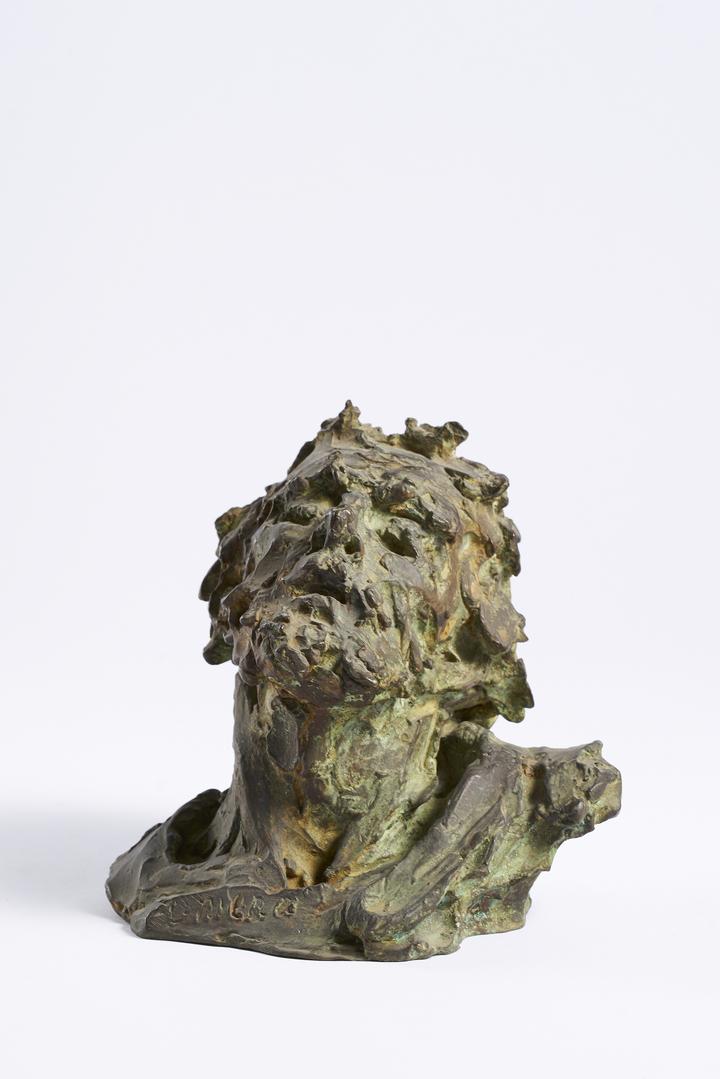 """Alceo Dossena, """"Ritratto di Omero"""", 1925-1937, bronzo, Musei Civici di Pescia"""