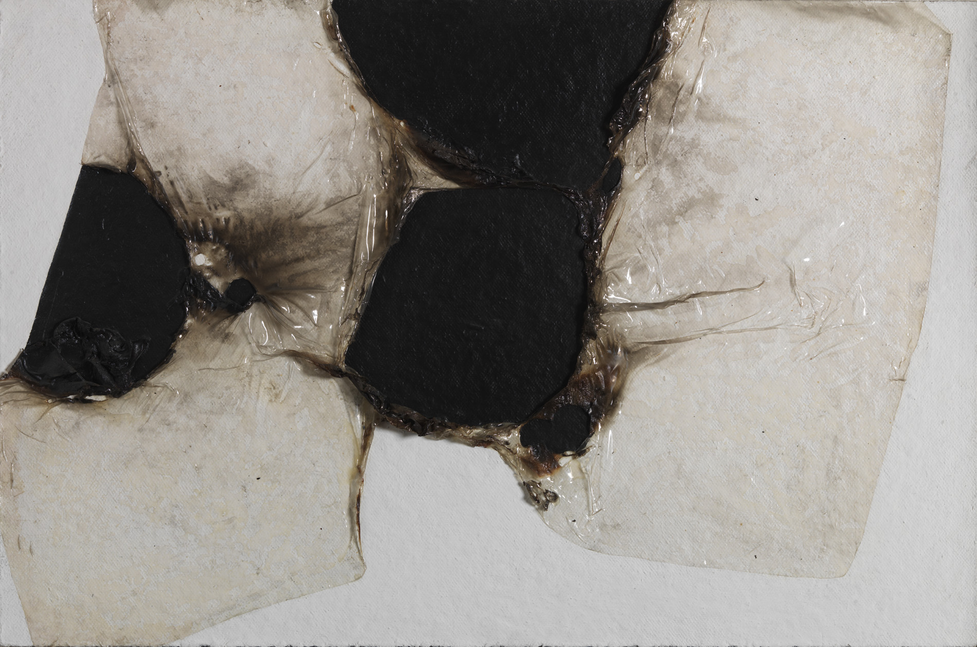 "Alberto Burri, ""Bianco Plastica BL1"", 1964"