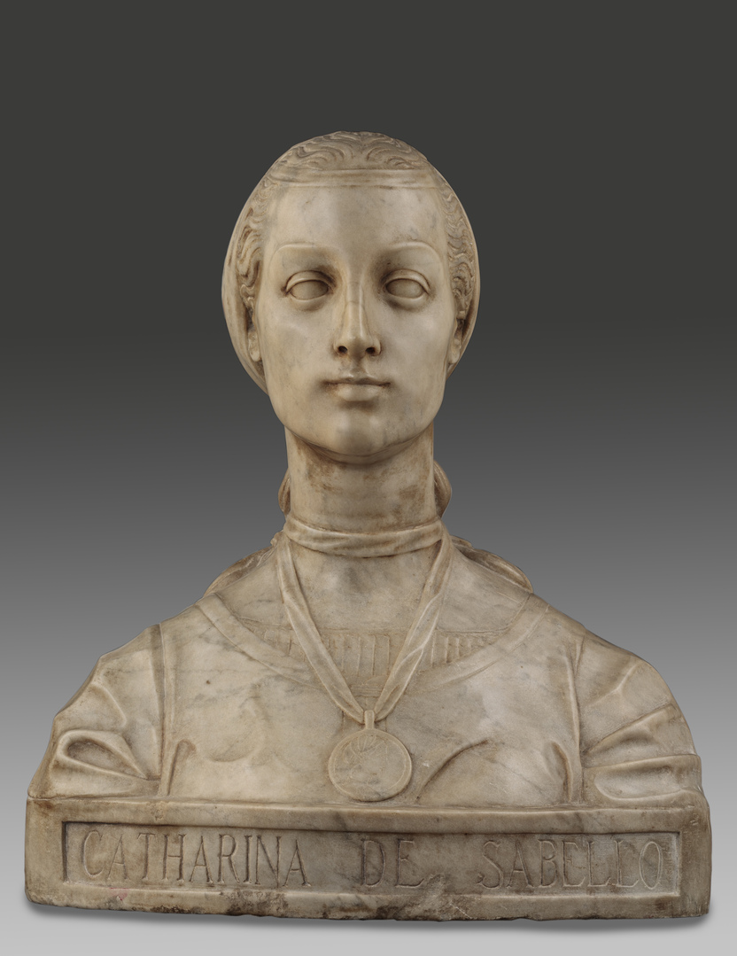 """Alceo Dossena, """"Catharina de Sabello"""", anni Venti del Novecento, marmo, Fondazione Cavallini Sgarbi"""