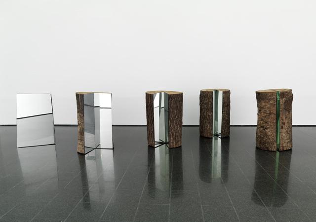 """Michelangelo Pistoletto, """"5 tronchi divisione moltiplicazione"""", 1996"""