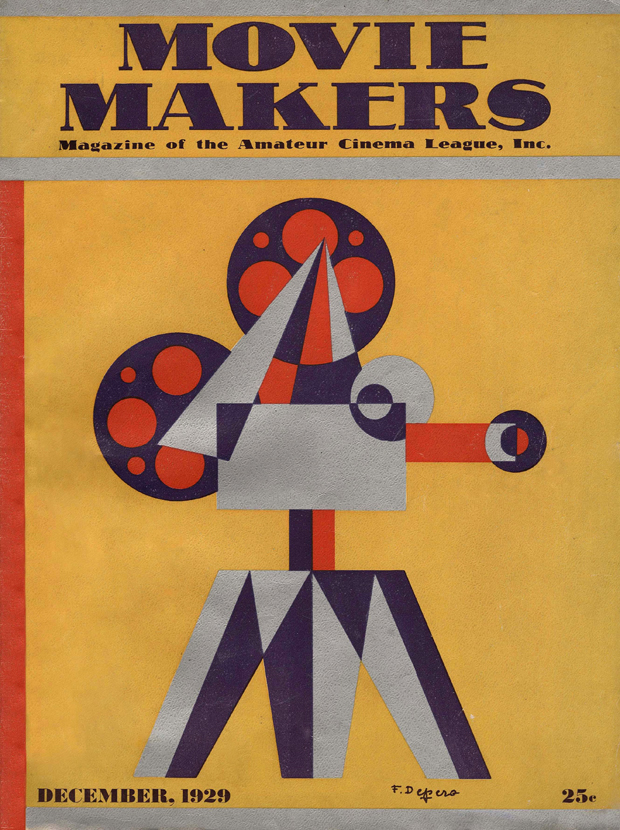 """Fortunato Depero, """"Movie makers: magazine of the Amateur cinema league, inc."""", Amateur Cinema League, inc., New York 1929"""