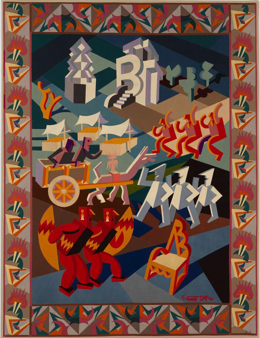 """Fortunato Depero, """"Festa della sedia, 1927, Mart, Fondo Depero"""