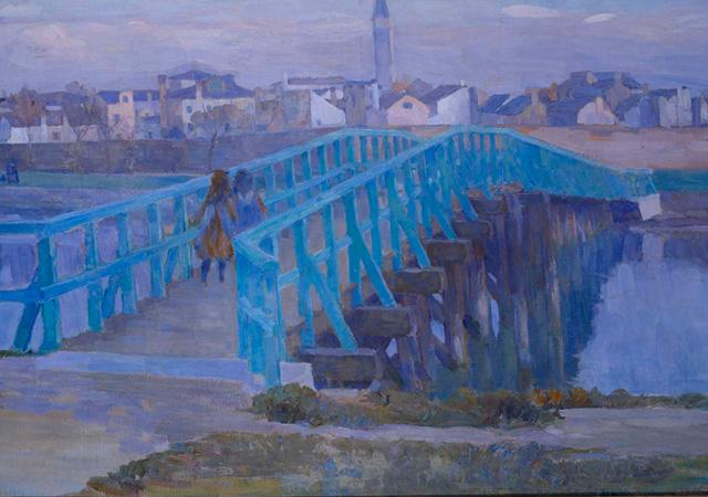 "Umberto Moggioli, ""Il ponte verde"", 1911"