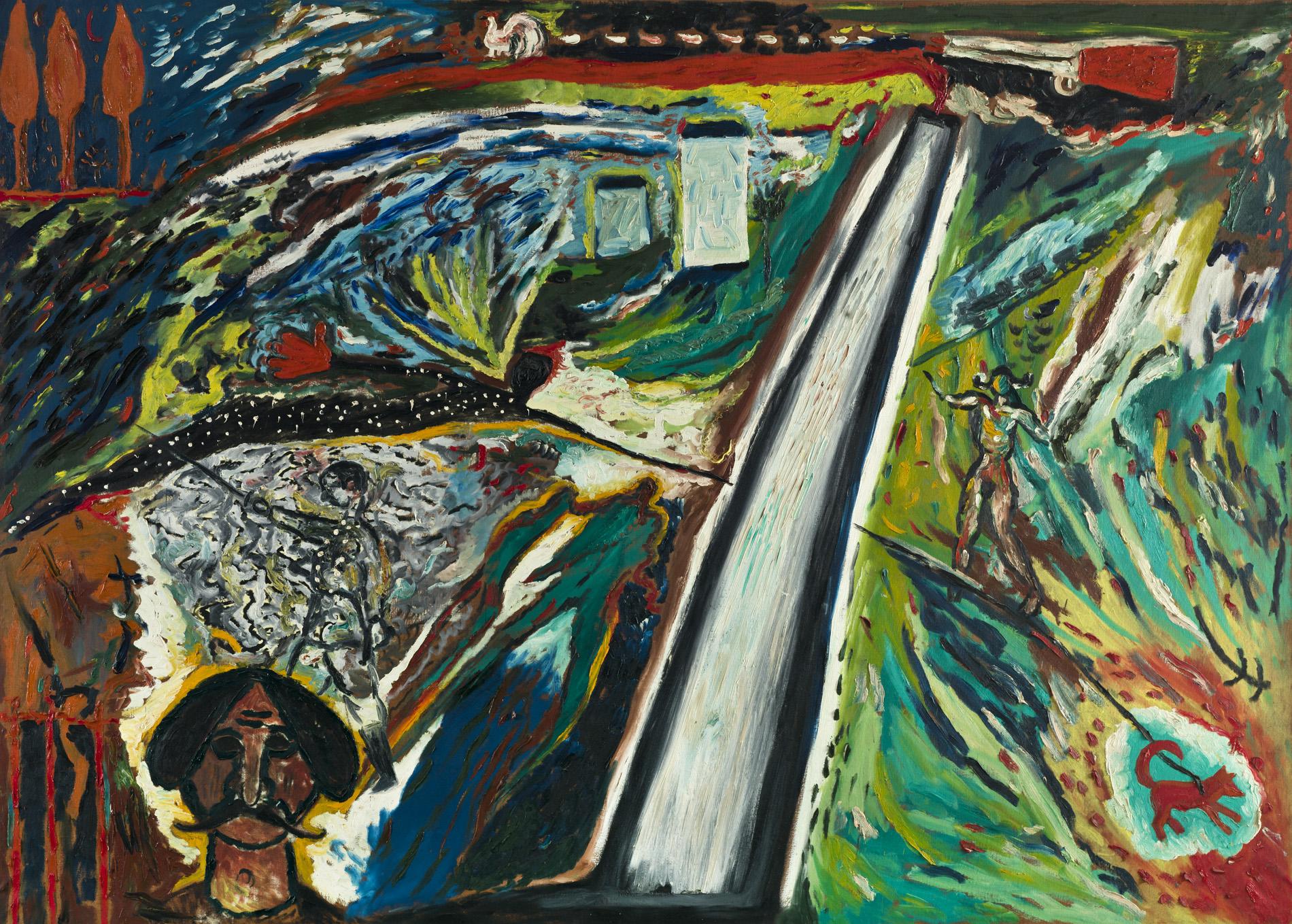 """Sandro Chia, Enzo Cucchi, """"Composizione"""", 1980"""