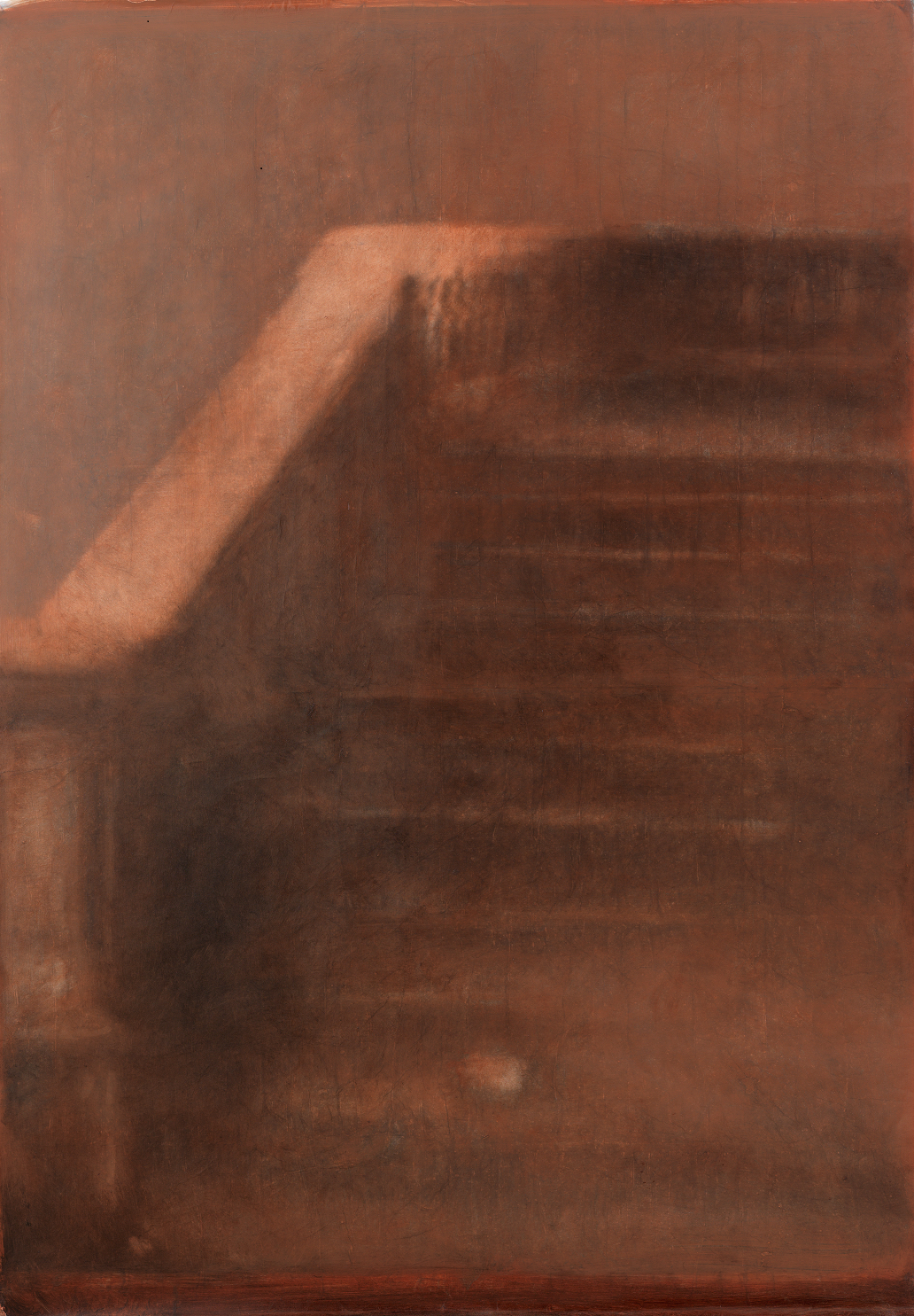 """""""Di ogni cosa è rimasto il vento"""" (dettaglio dell'opera), 2019, gelatina fotosensibile, grafite, olio su tela, 150 x 115 cm, Courtesy l'artista"""