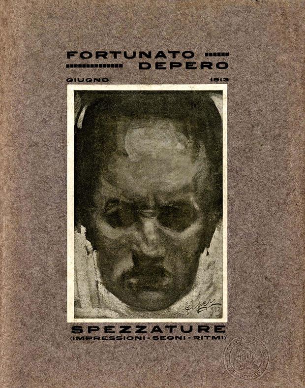 """Fortunato Depero, """"Spezzature (Impressioni segni ritmi)"""", Rovereto 1913"""