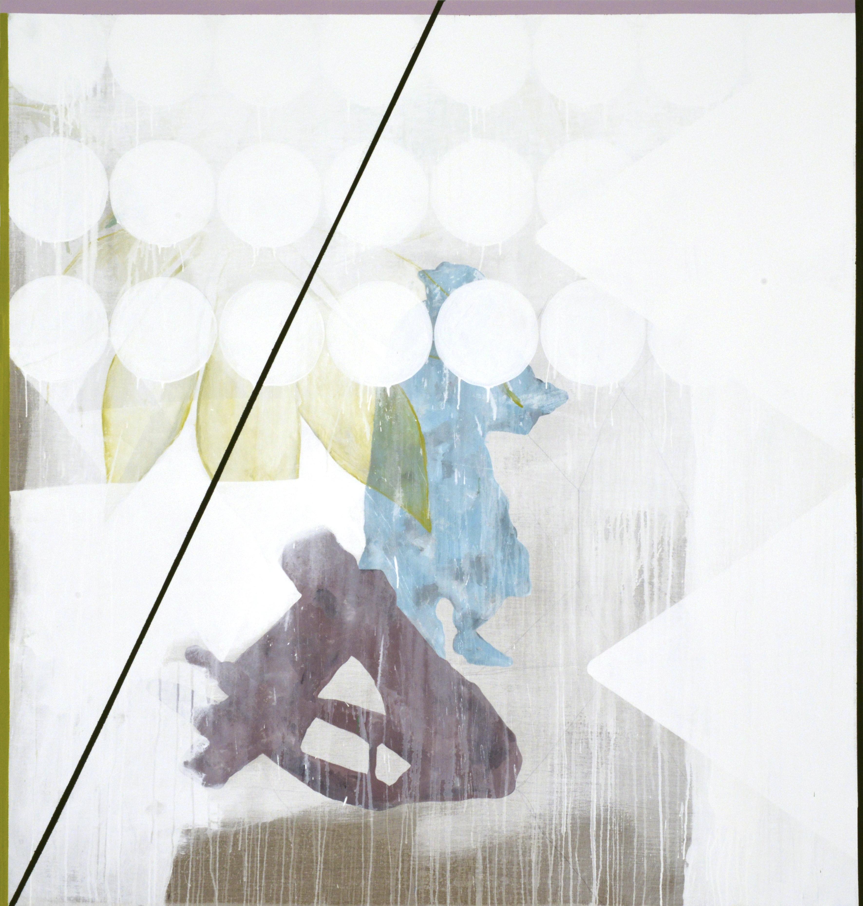 """""""Io sono la lotta"""" (dettaglio dell'opera), 2017, tecnica mista su lino grezzo, 190 x 180 cm, Courtesy l'artista"""