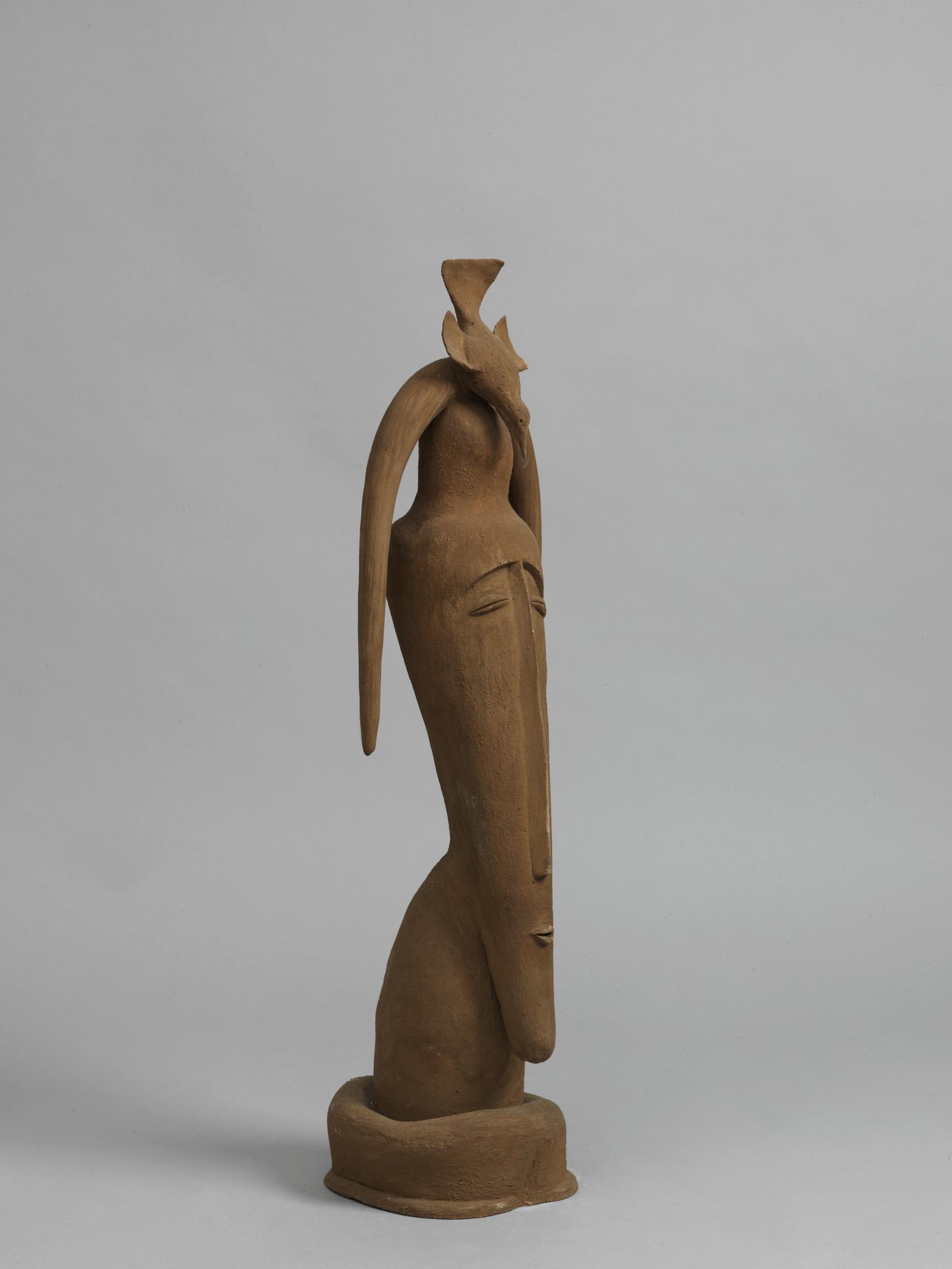 """""""Elemento Fuoco"""" (dettaglio dell'opera), 2003, terracotta smaltata e dipinta, Courtesy l'artista"""