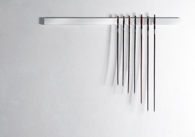 """Jacopo Mazzonelli, """"Arcata"""", 2011, archetti, alluminio, Caldic Collection, Rotterdam"""