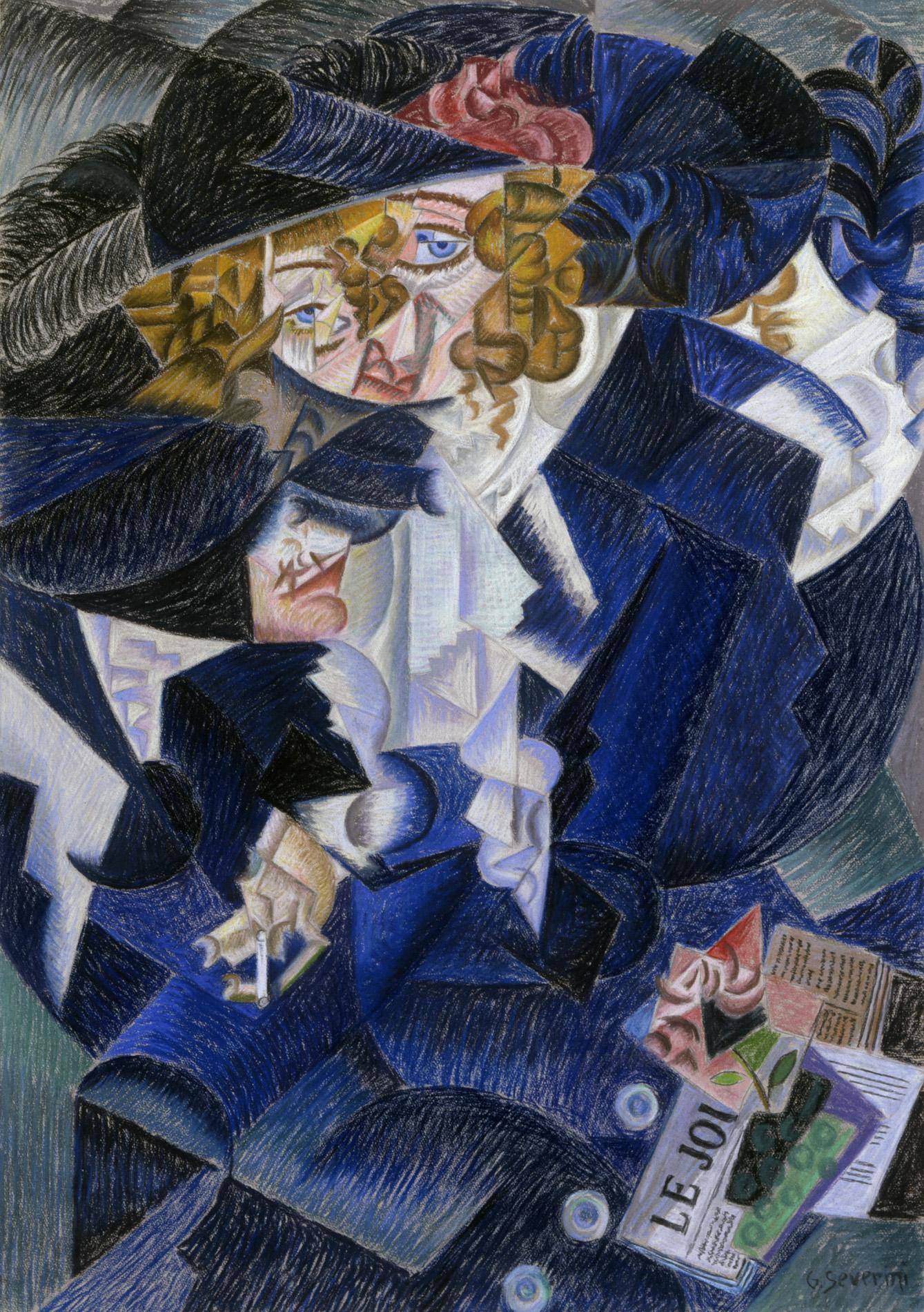 """Gino Severini, """"Ritratto di Madame M.S."""", 1913-15"""
