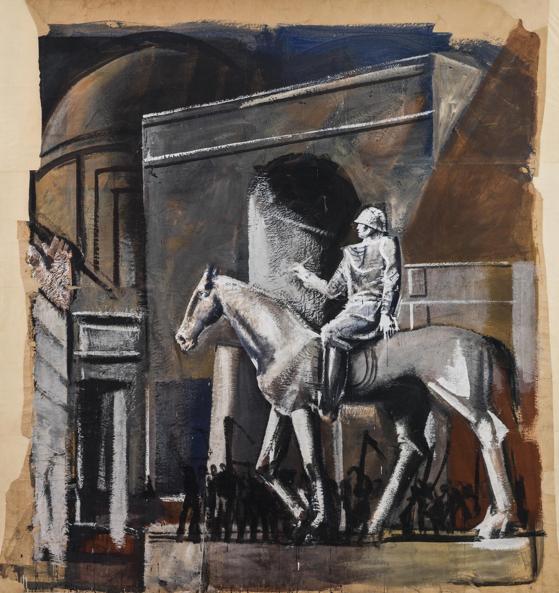 """Mario Sironi, """"Condottiero a cavallo"""", 1934-35"""