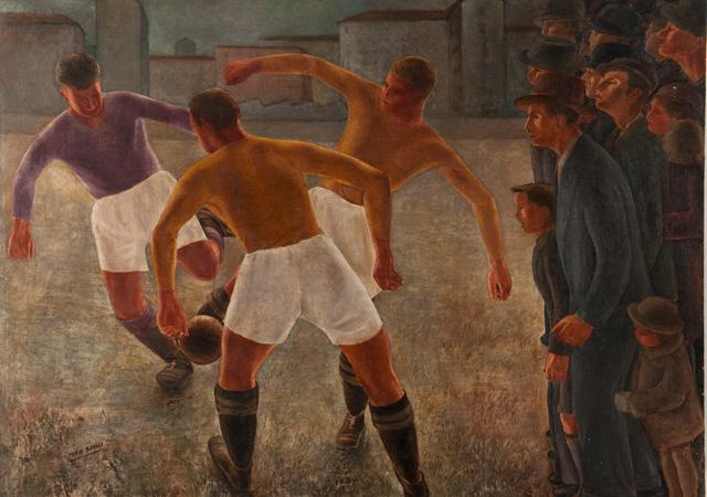 """Mario Radice, """"La partita di pallone"""", 1933. Mart, collezione privata"""
