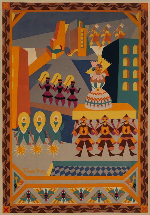 """Fortunato Depero, """"Il corteo della gran bambola"""", 1920"""